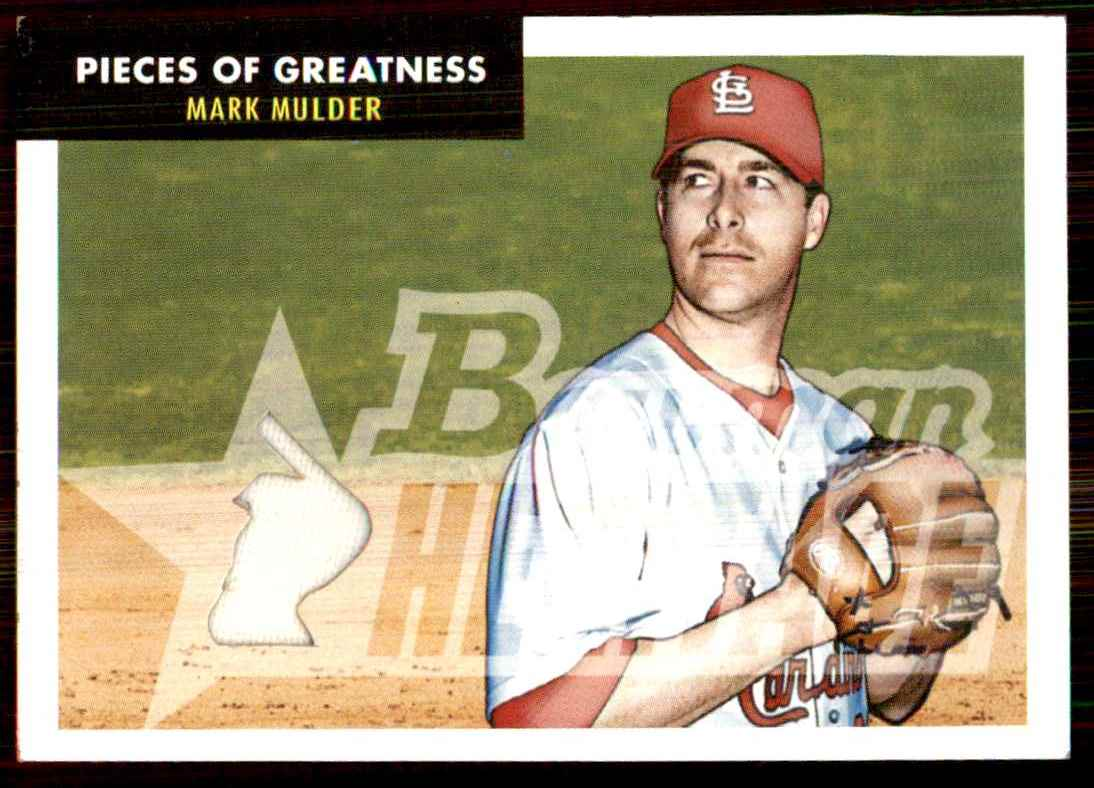 2007 Bowman Heritage Pieces Of Greatness Mark Mulder Pants E #MM card front image