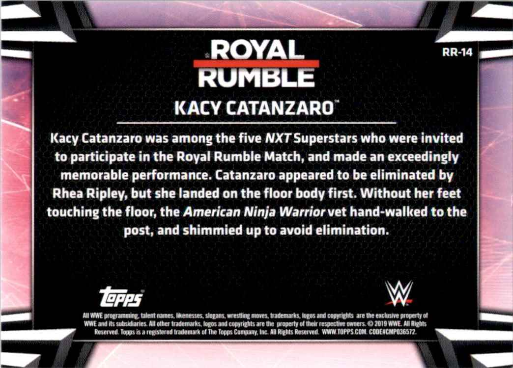 2019 Topps Wwe Women's Division Women's Royal Rumble Kacy Catanzaro #RR14 card back image