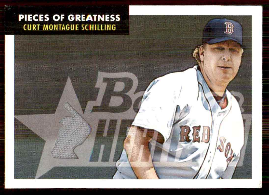 2007 Bowman Heritage Pieces Of Greatness Curt Schilling Jsy C #CS card front image