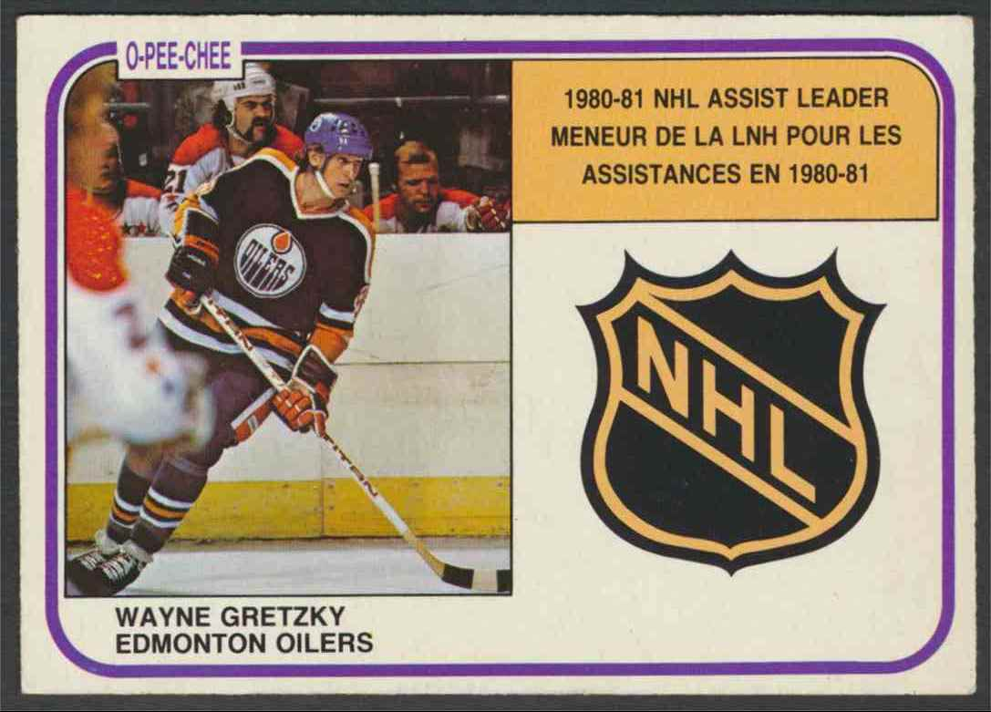 1981-82 O-Pee-Chee Wayne Gretzky- EX Mint #383 card front image