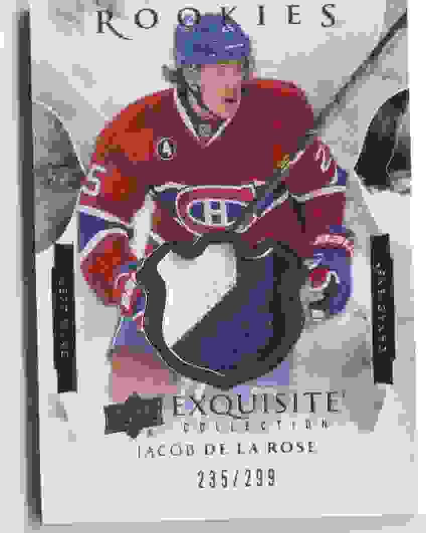 2015-16 Upper Deck Exquisite Jacob De La Rose #R-JD card front image