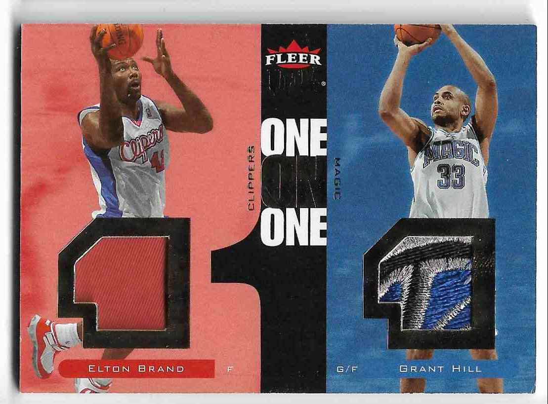 2007-08 Fleer Ultra Elton Brand/Grant Hill #OO-BH card front image