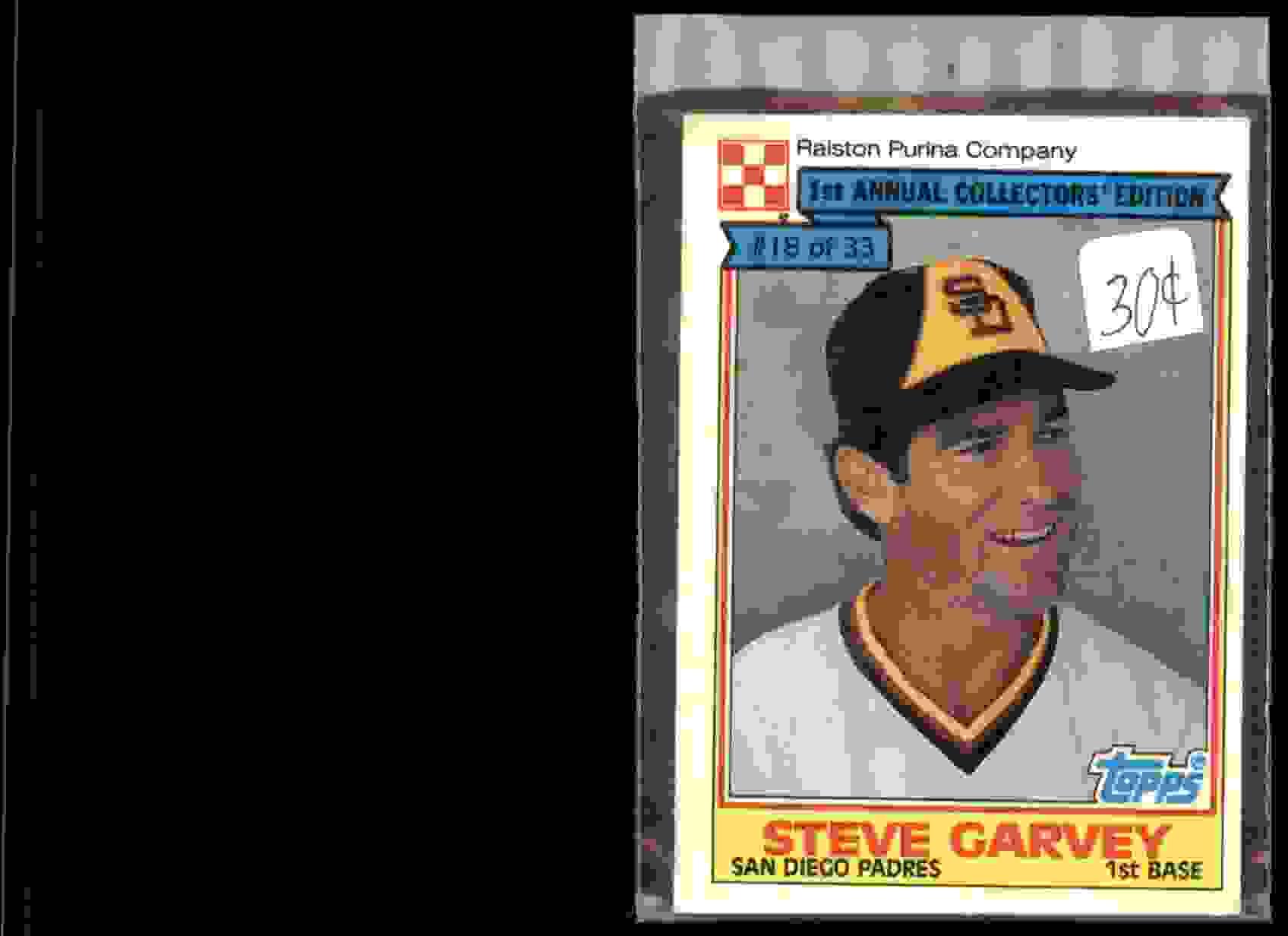 1984 Topps Cereal Steve Garvey #18 card front image