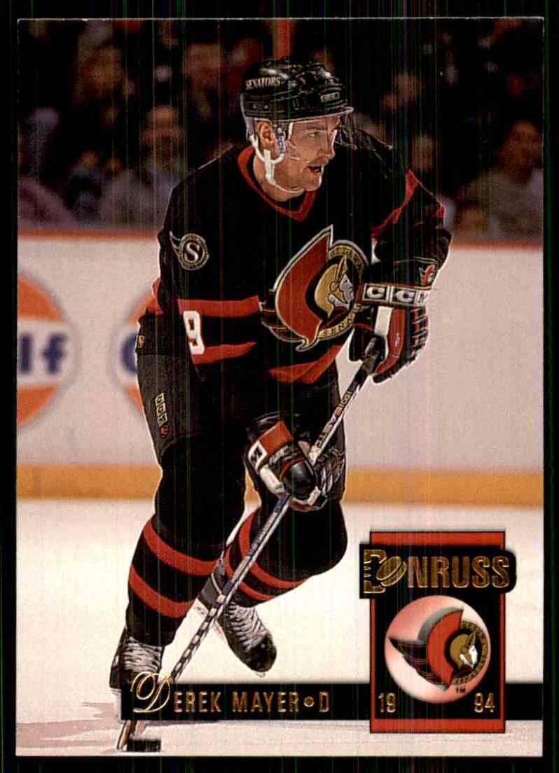 1993-94 Donruss Derek Mayer RC #467 card front image
