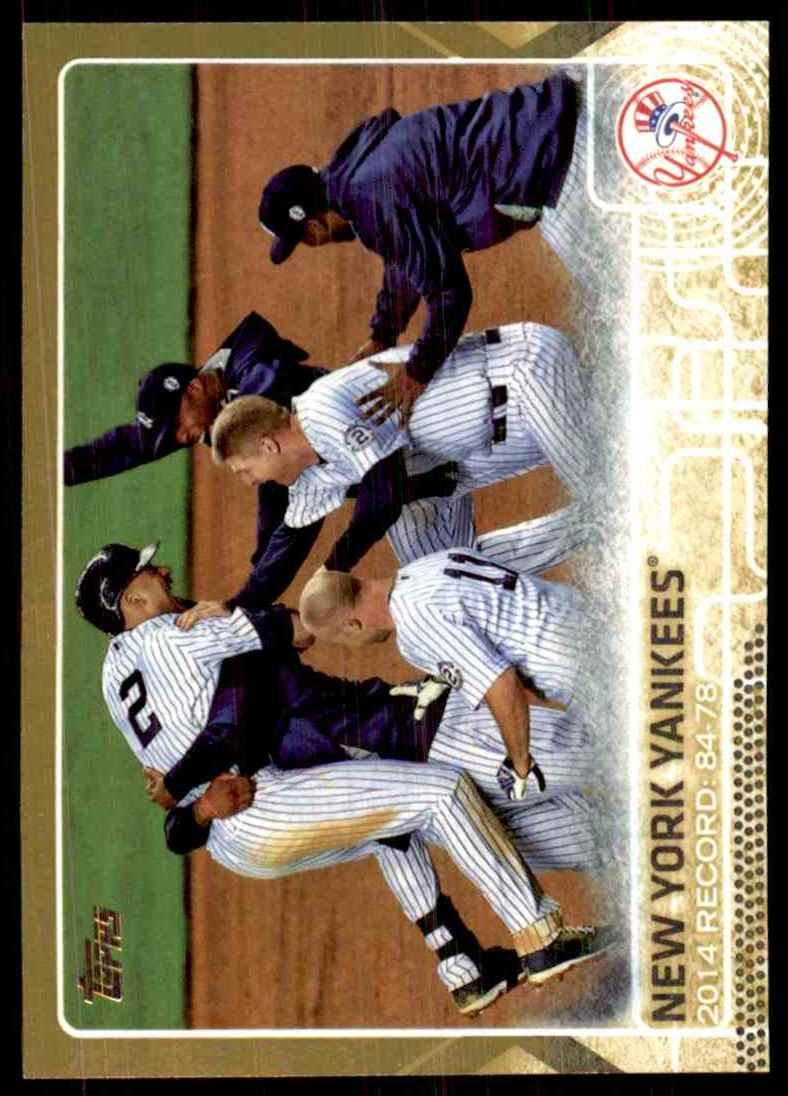 2015 Topps Gold New York Yankees #697 card front image