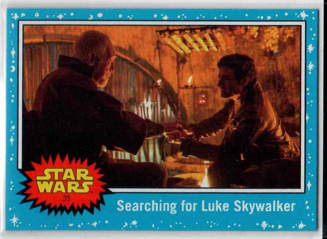 2019 Topps Star Wars Journey To Rise Of Skywalker Searching For Luke Skywalker #33 card front image