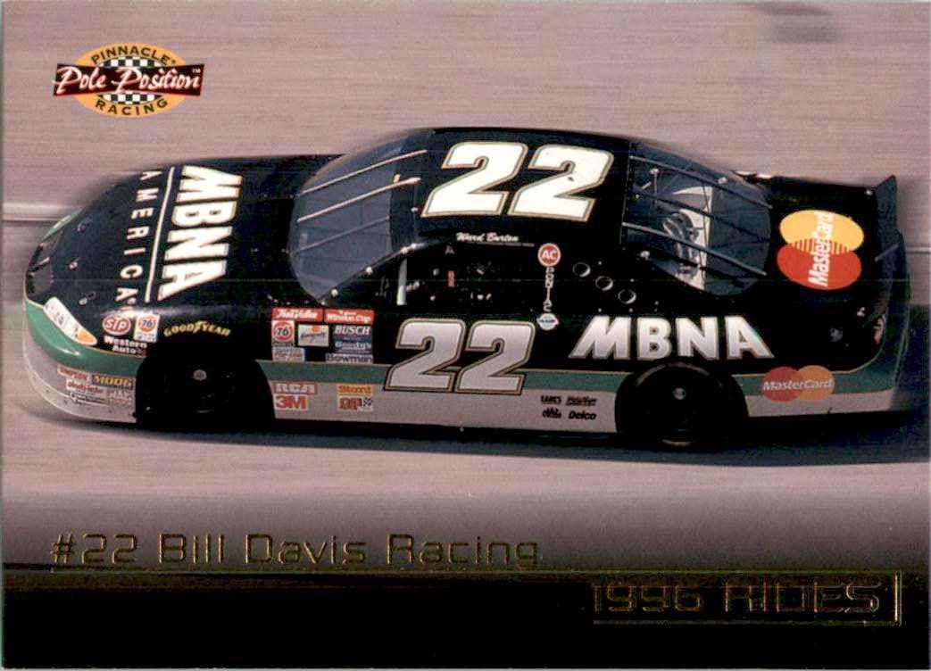 1996 Pinnacle Pole Position Ward Burton's Car #38 card front image