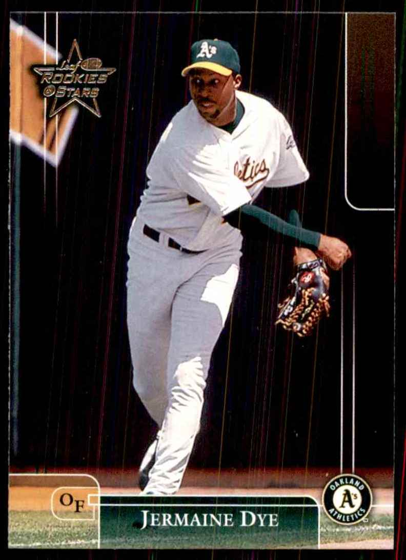 2002 Leaf Rookies & Stars Jermaine Dye A's #77 card front image