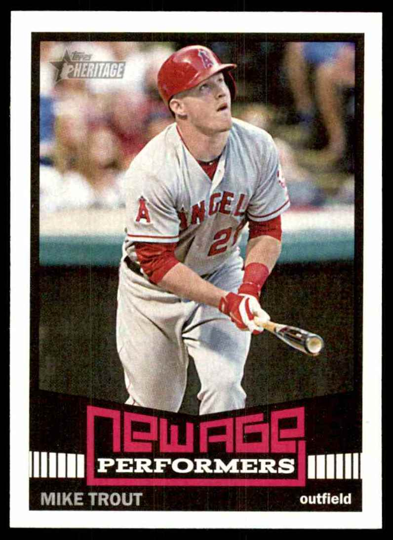 2015 Topps Heritage New Age Performers Mike Trout Nap5 On