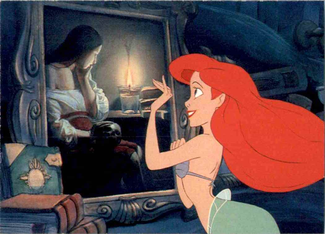 1991 Little Mermaid Ariel Gazes Longingly #14 card front image