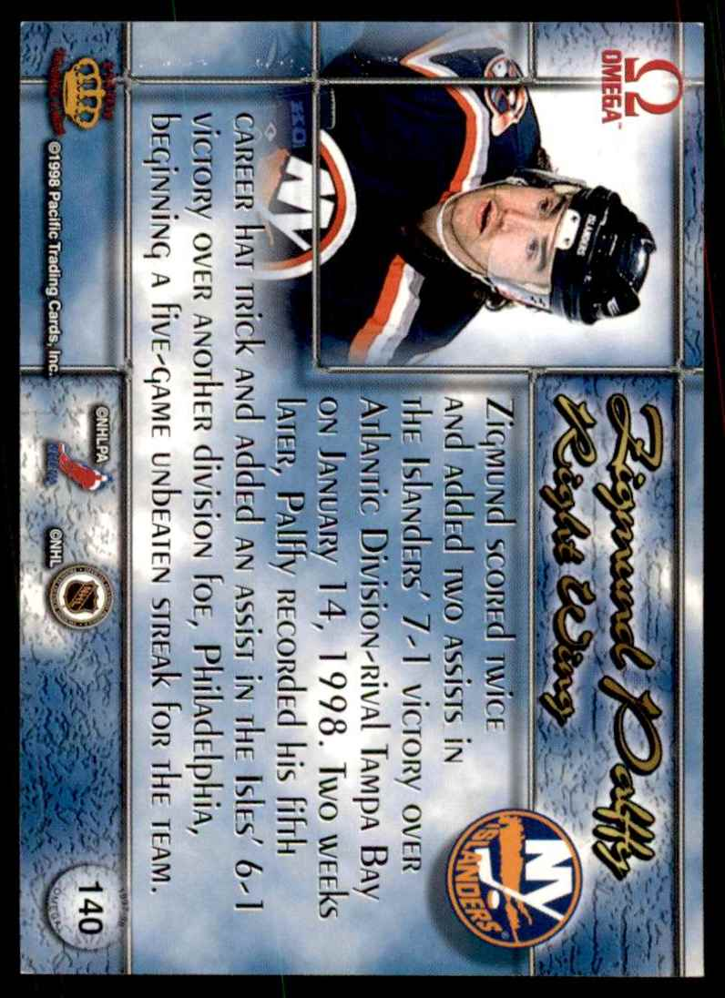 1997-98 Pacific Omega Zigmund Palffy #140 card back image