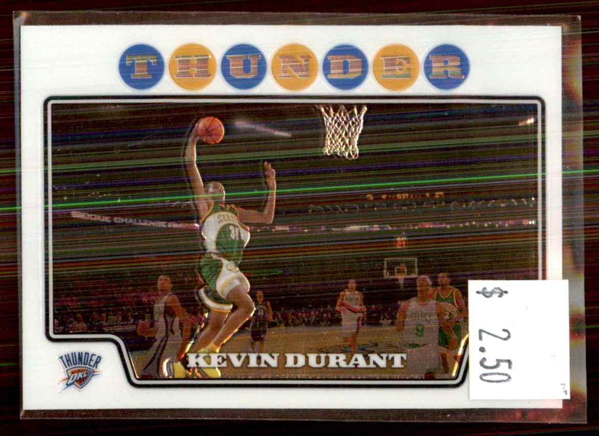 2008-09 Topps Chrome Kevin Durant #156 card front image