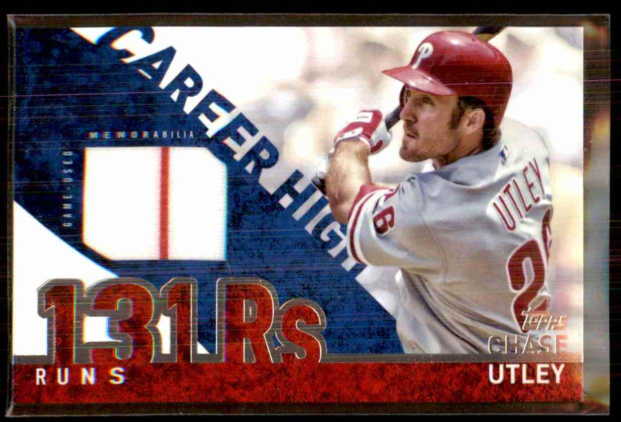 2015 Topps Career High Relics Chase Utley S2 #CHRCU card front image