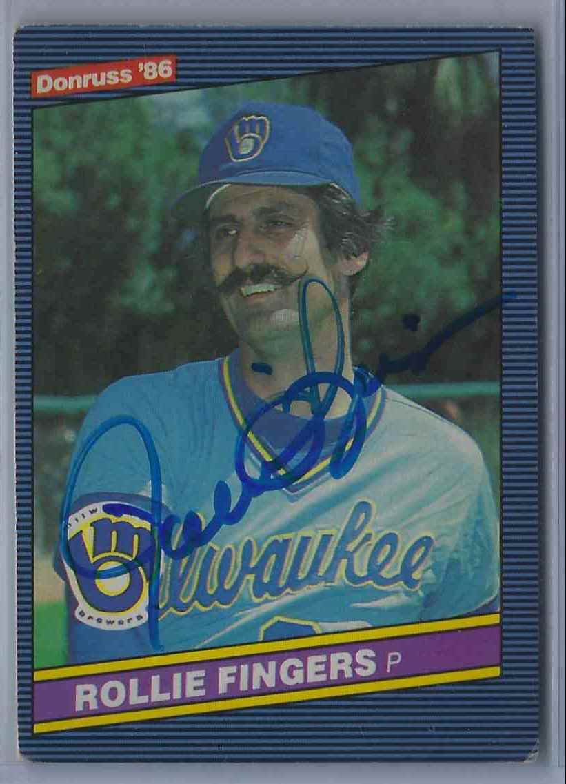 1986 Donruss Rollie Fingers #229 card front image