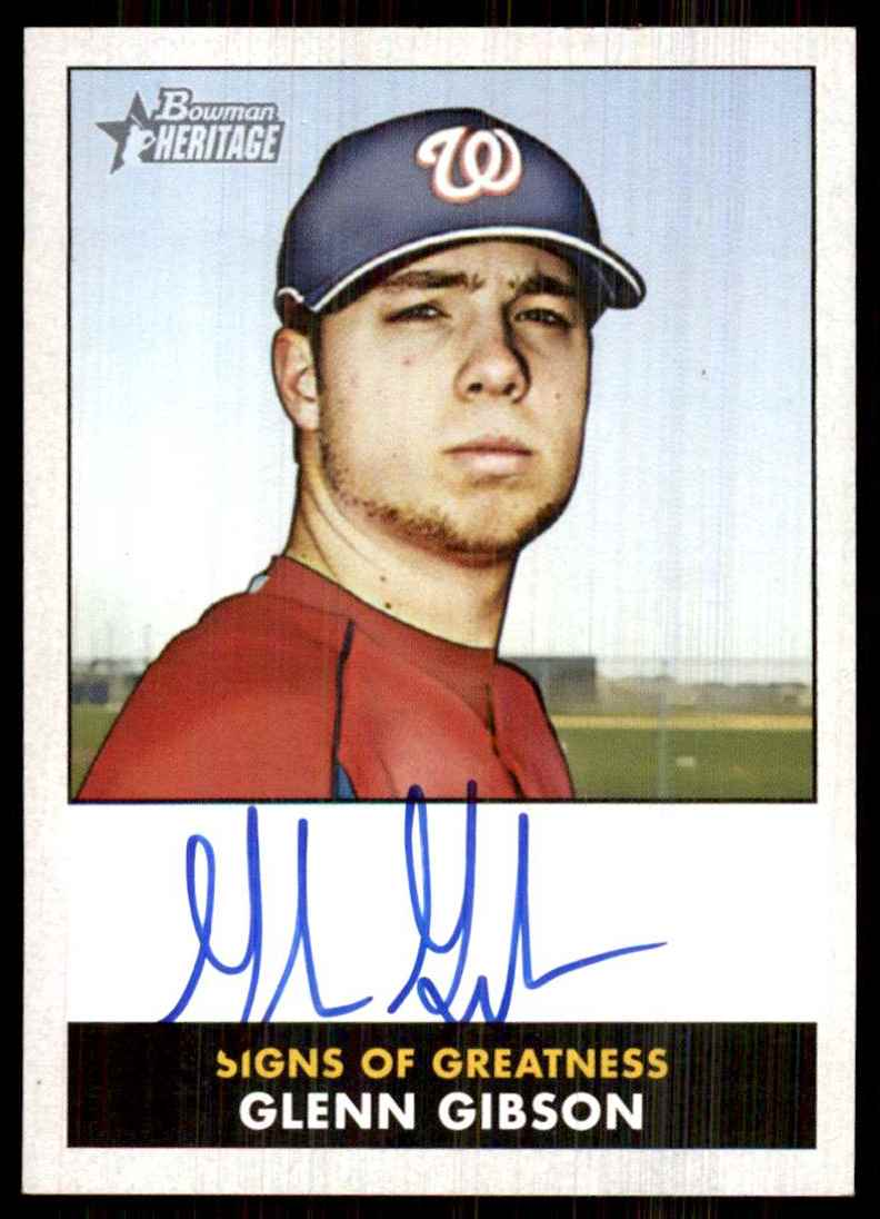 2007 Bowman Heritage Signs Of Greatness Glenn Gibson F #GG card front image