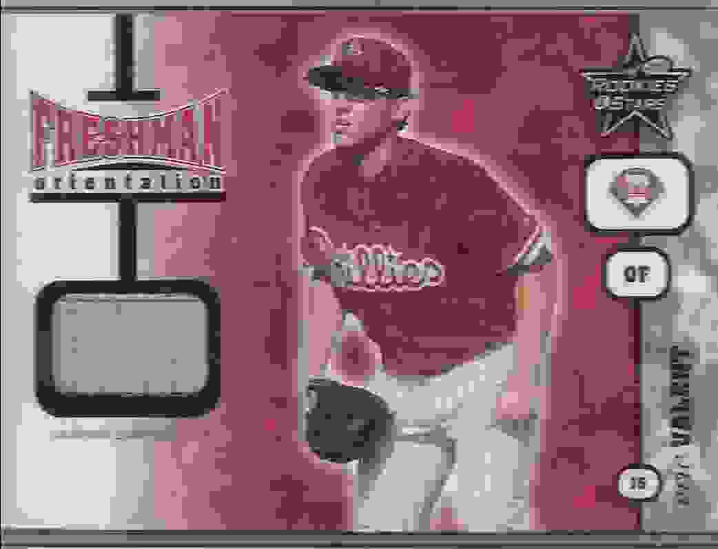 2001 Leaf Rookies & Stars Freshman Orientation Eric Valent #FO17 card front image