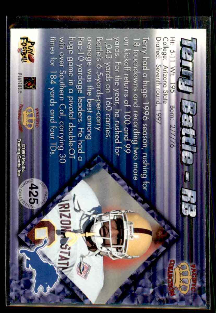 1997 Pacific Terry Battle #425 card back image