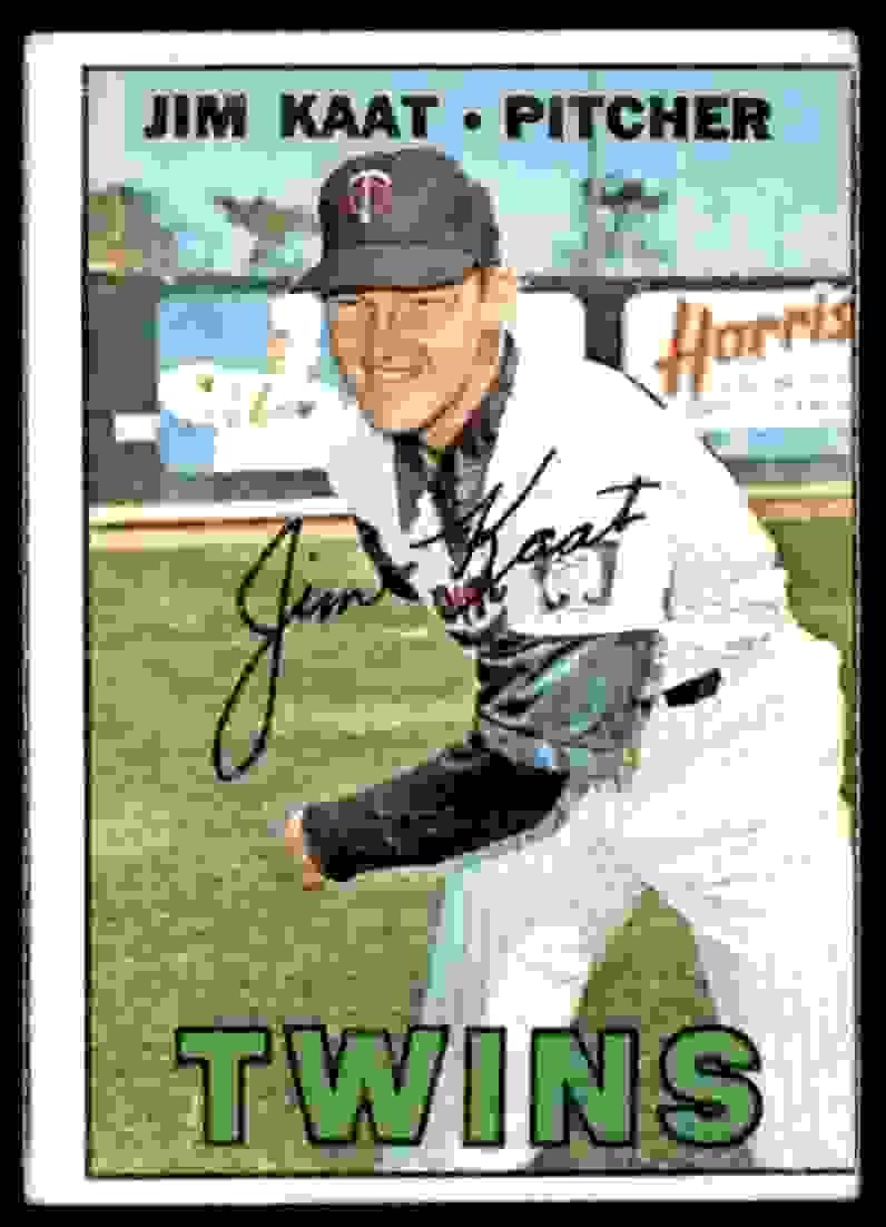 1967 Topps Jim Kaat #300 card front image