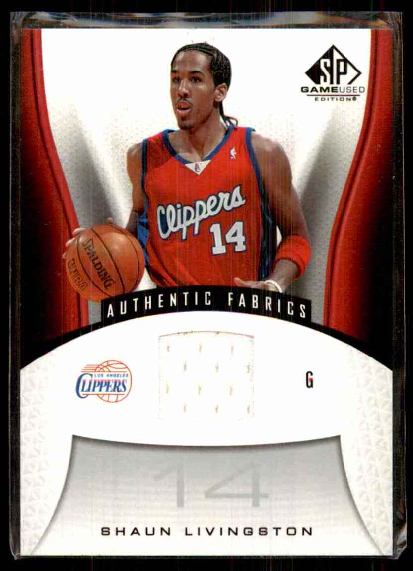 2006-07 SP Game Used Shaun Livingston Jsy #139 card front image