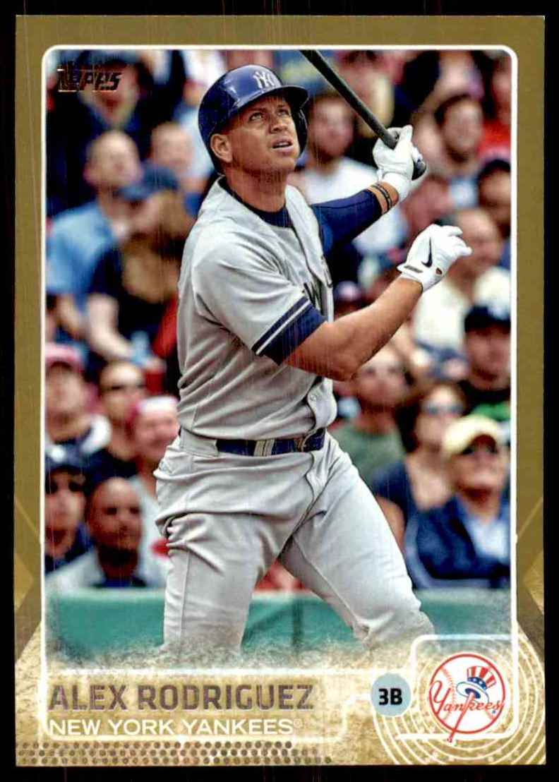2015 Topps Gold Alex Rodriguez #493 card front image