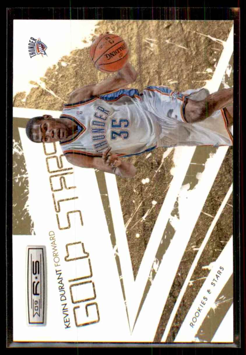 2009-10 Rookies And Stars Gold Stars Gold Kevin Durant #6 card front image
