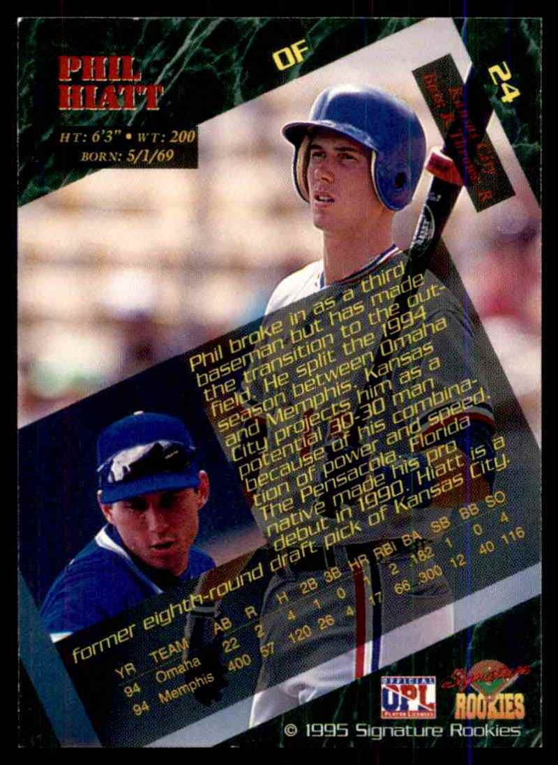 1995 Signature Rookies Phil Hiatt #24 card back image