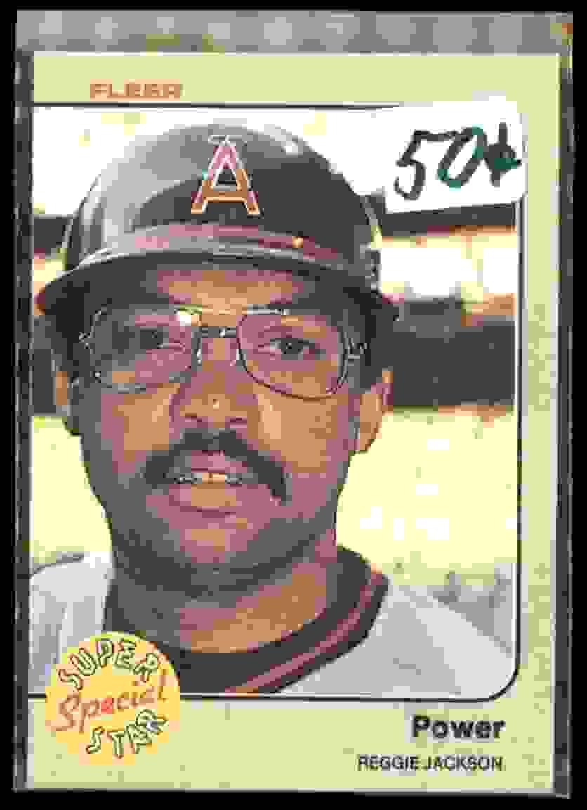 1983 Fleer Reggie Jackson #645 card front image