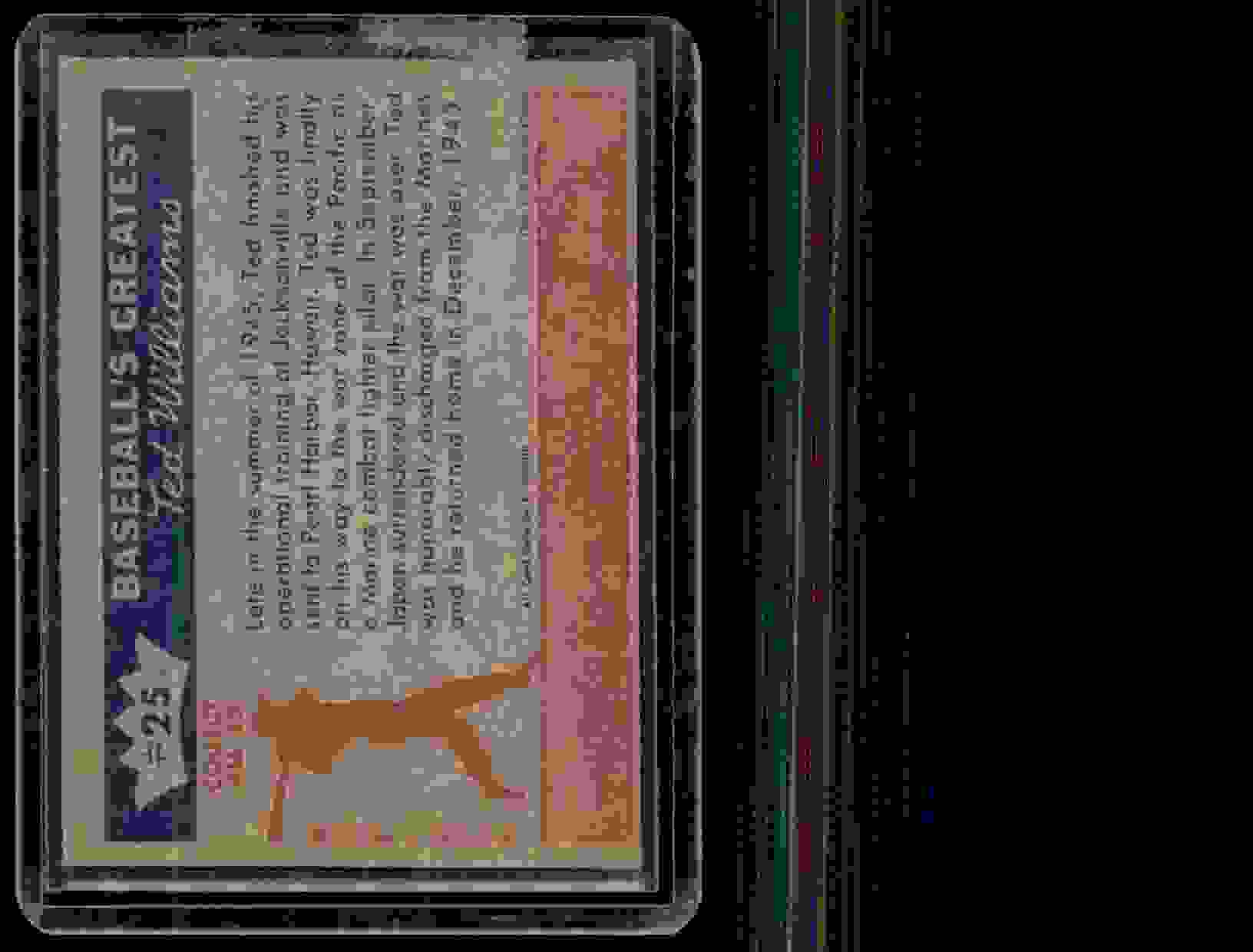 1959 Fleer Ted Williams Ted Williams #25 card back image