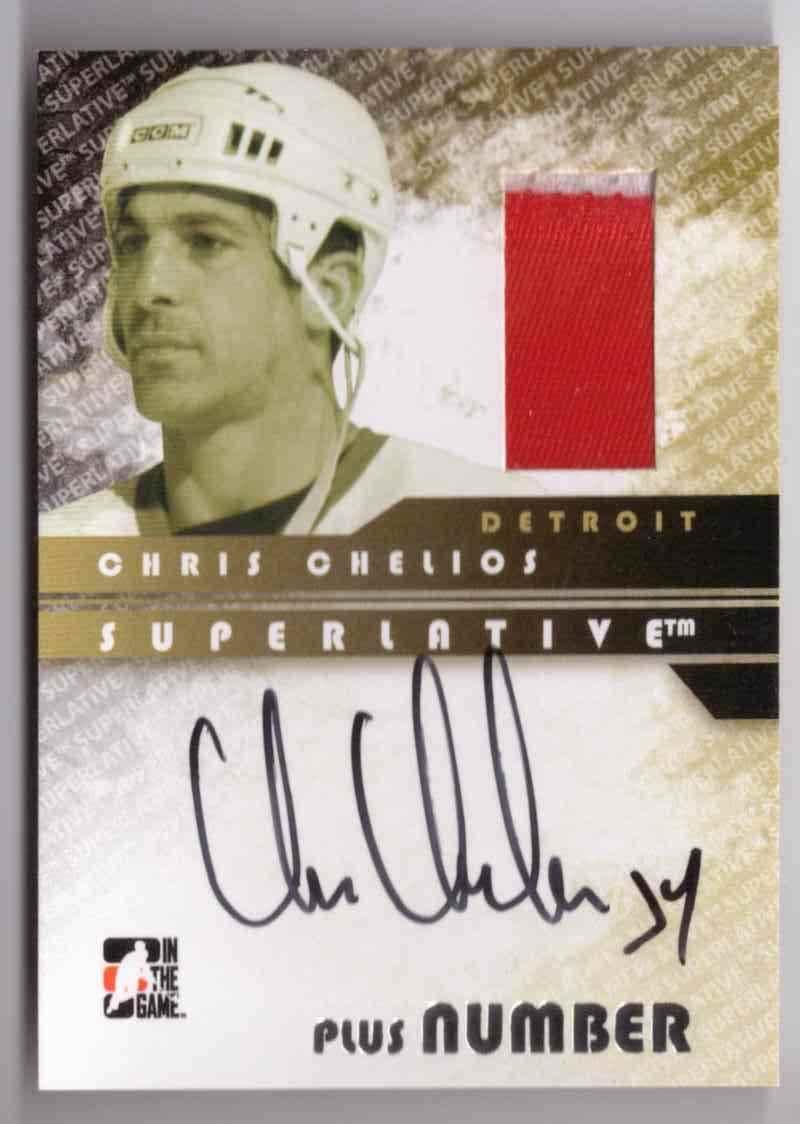 2008-09 ITG Superlative Chris Chelios #SAP-CC card front image