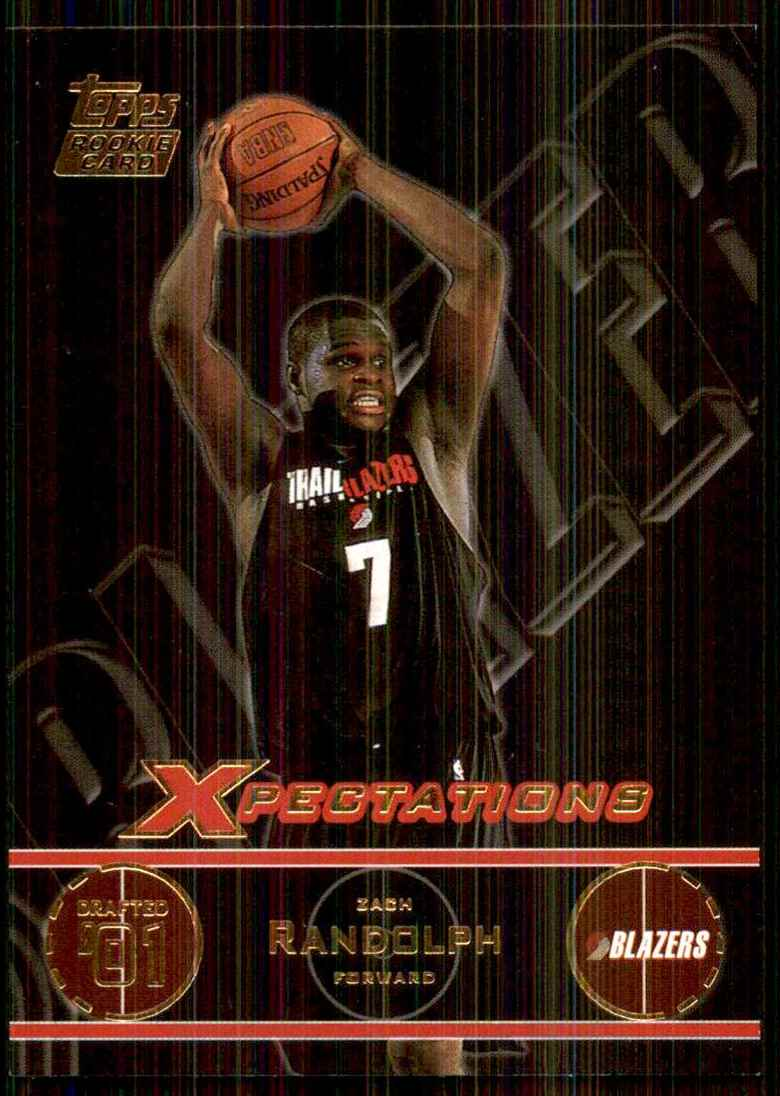 2001-02 Topps Xpectations Zach Randolph/250 RC #119 card front image