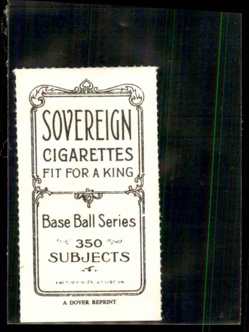 1909 T206 Reprint Nap Rucker #25 card back image