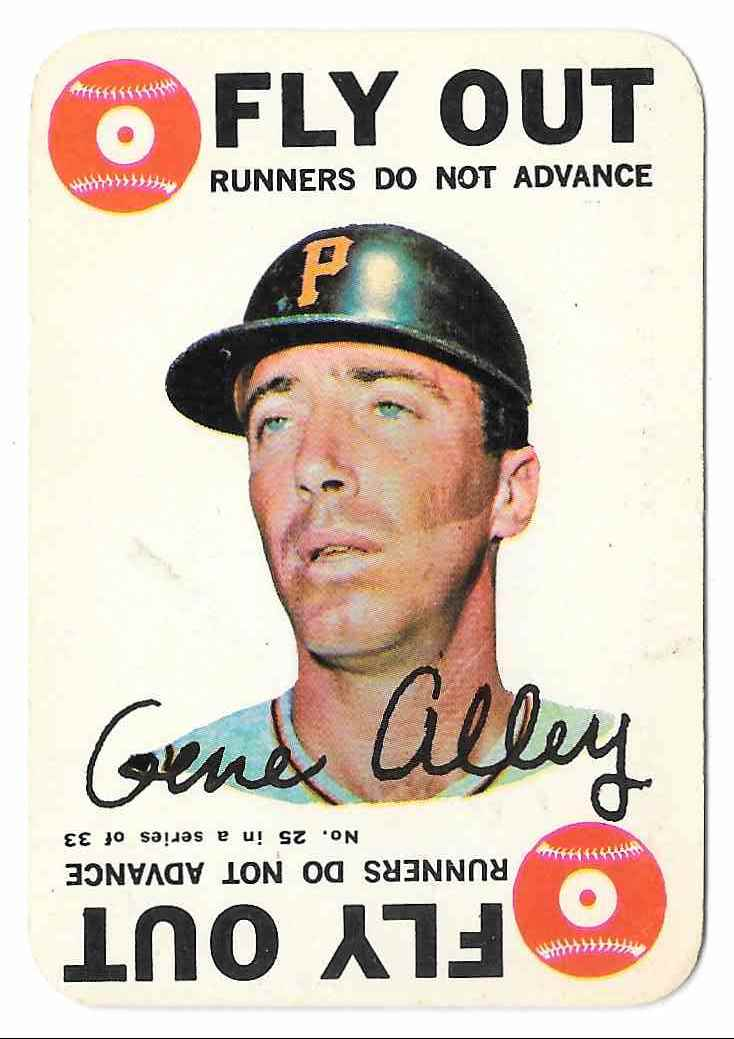 1968 Topps Flyout Gene Alley #25 card front image