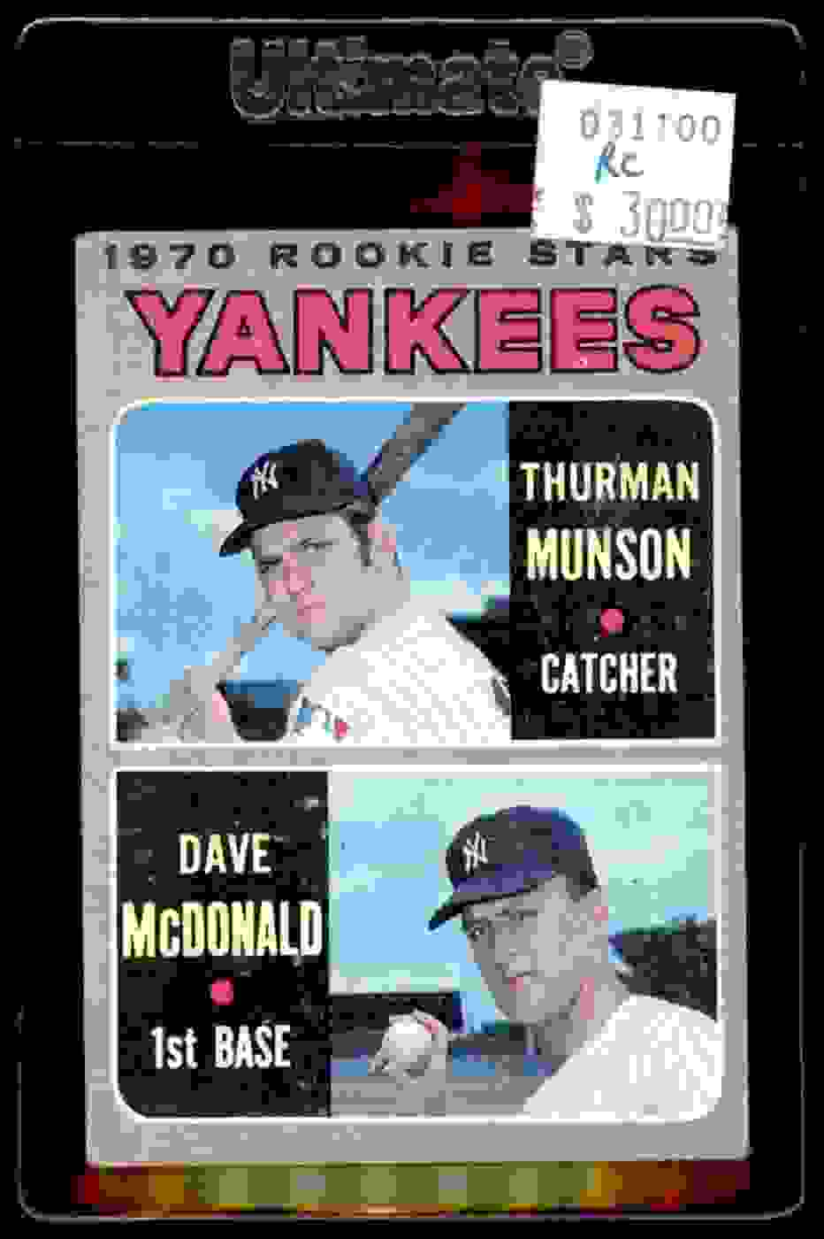 1970 Topps Thurman Munson Dave McDonald #189 card front image