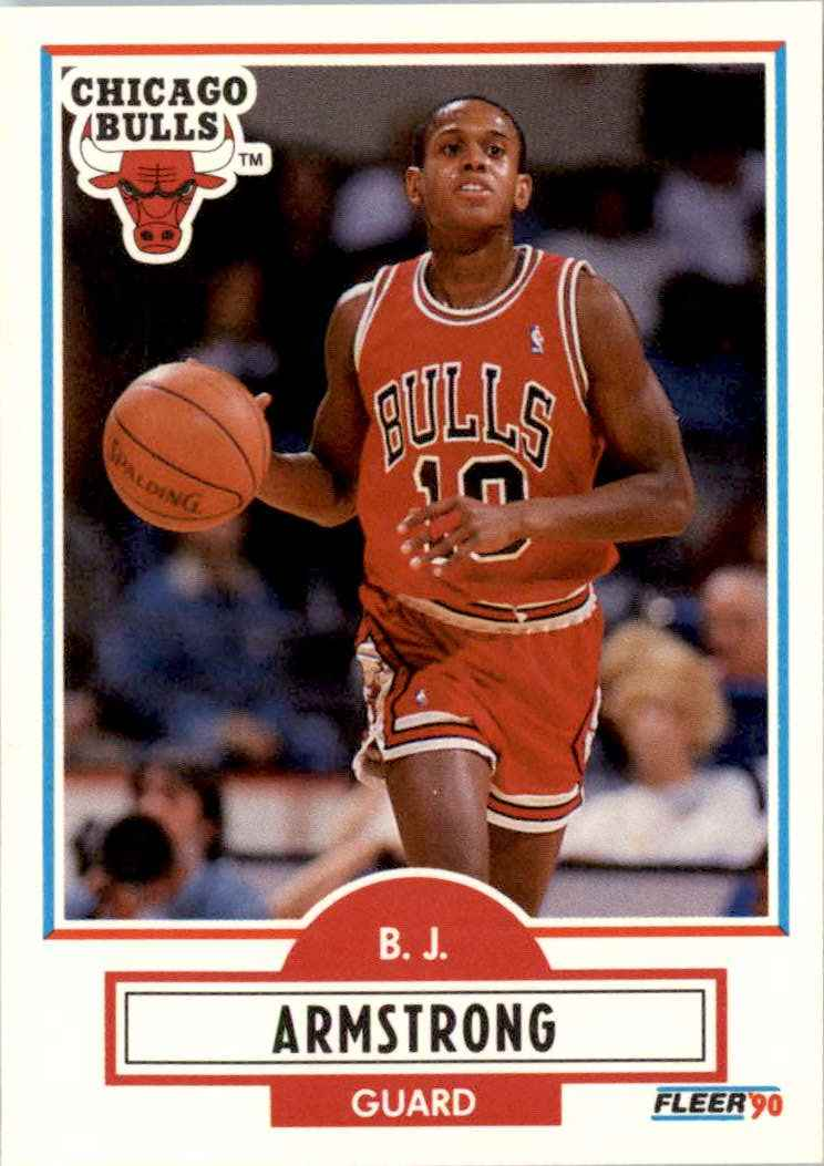 1990-91 Fleer B.J. Armstrong #22 card front image