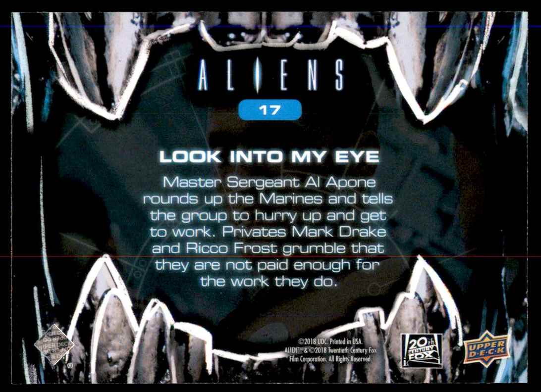 2018 Aliens Look Into My Eye #17 card back image