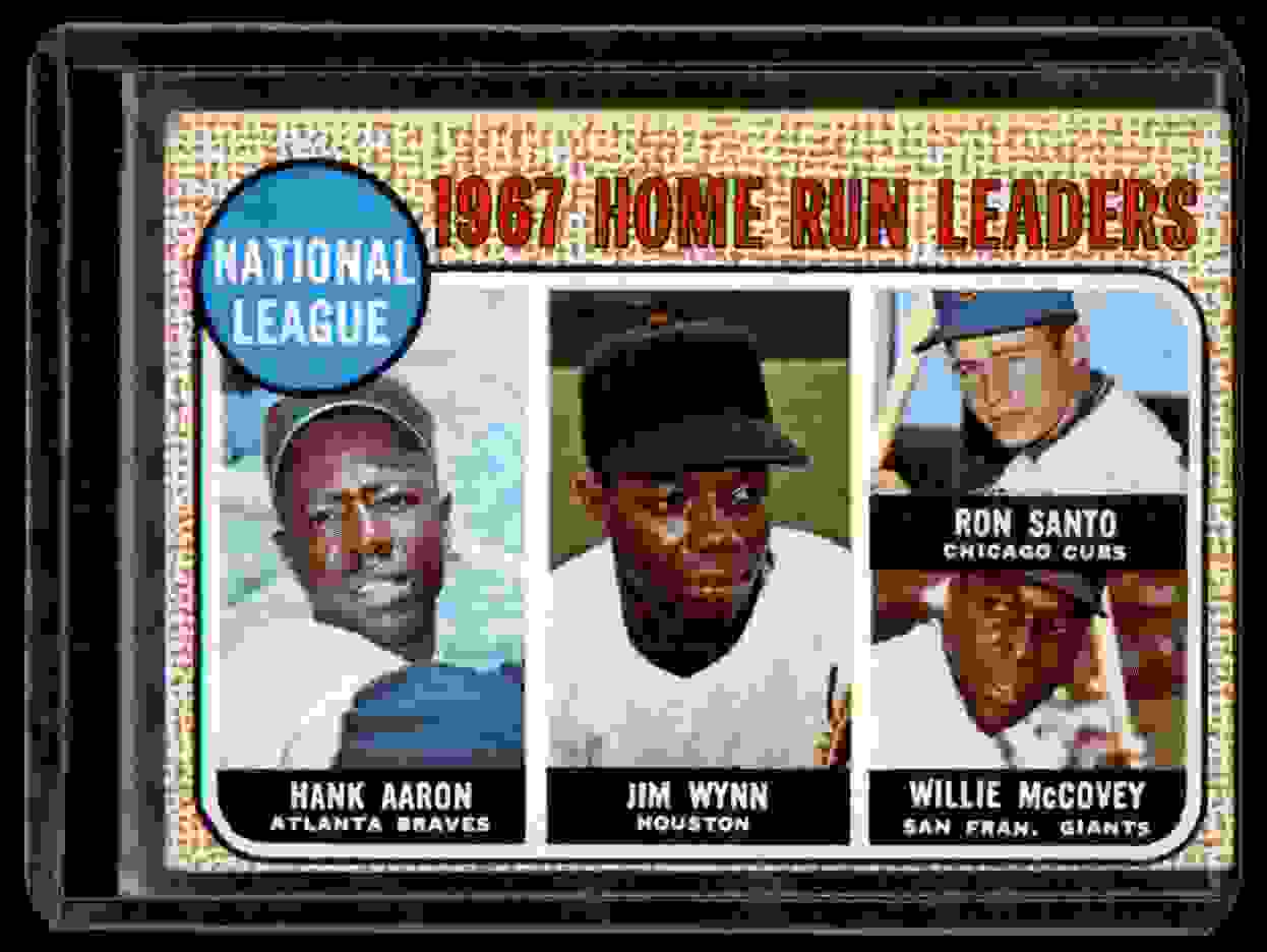 1968 Topps Hank Aaron Jim Wynn Ron Santo Willie McCovey #5 card front image