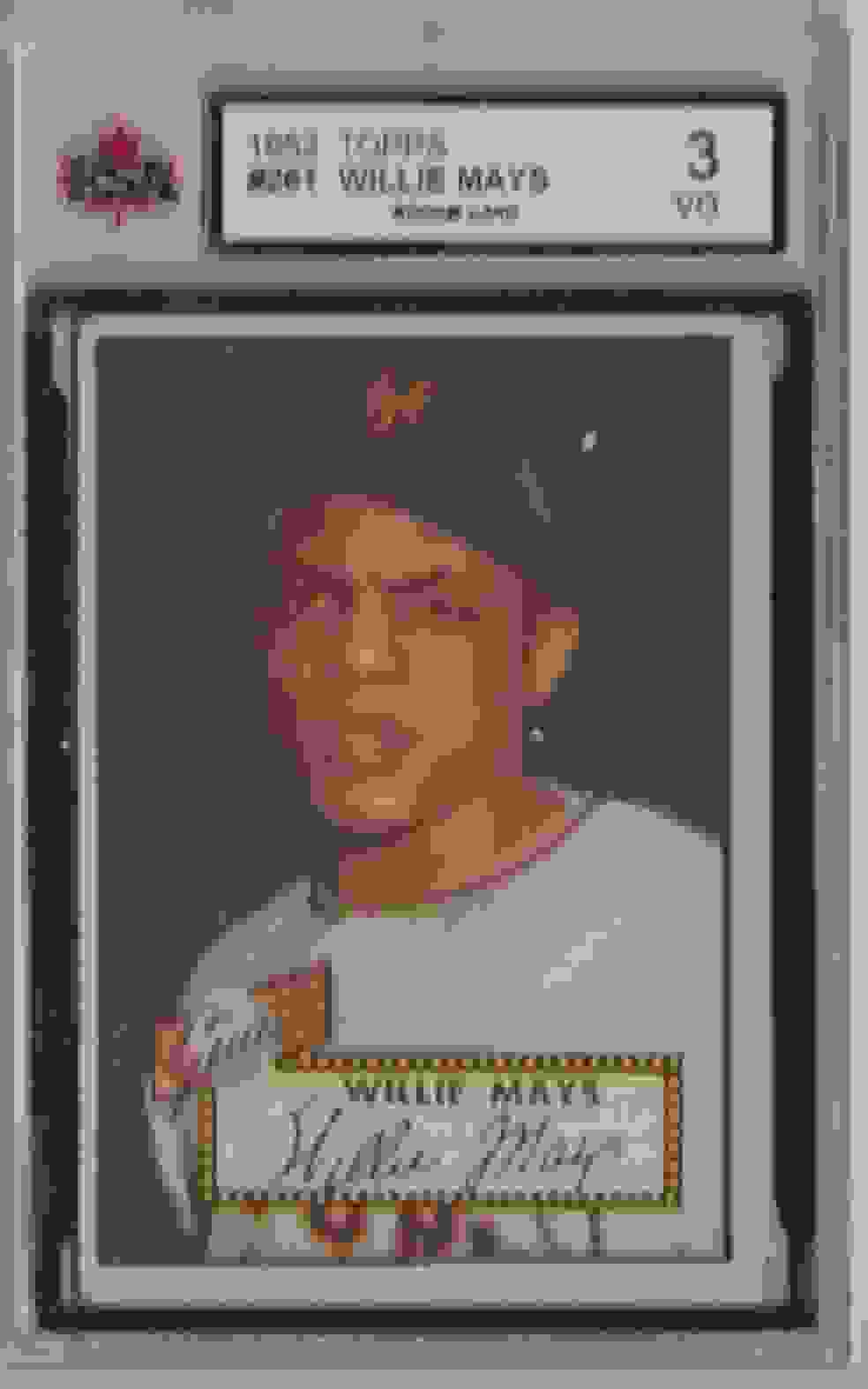 1952 Topps Willie Mays #261 card front image