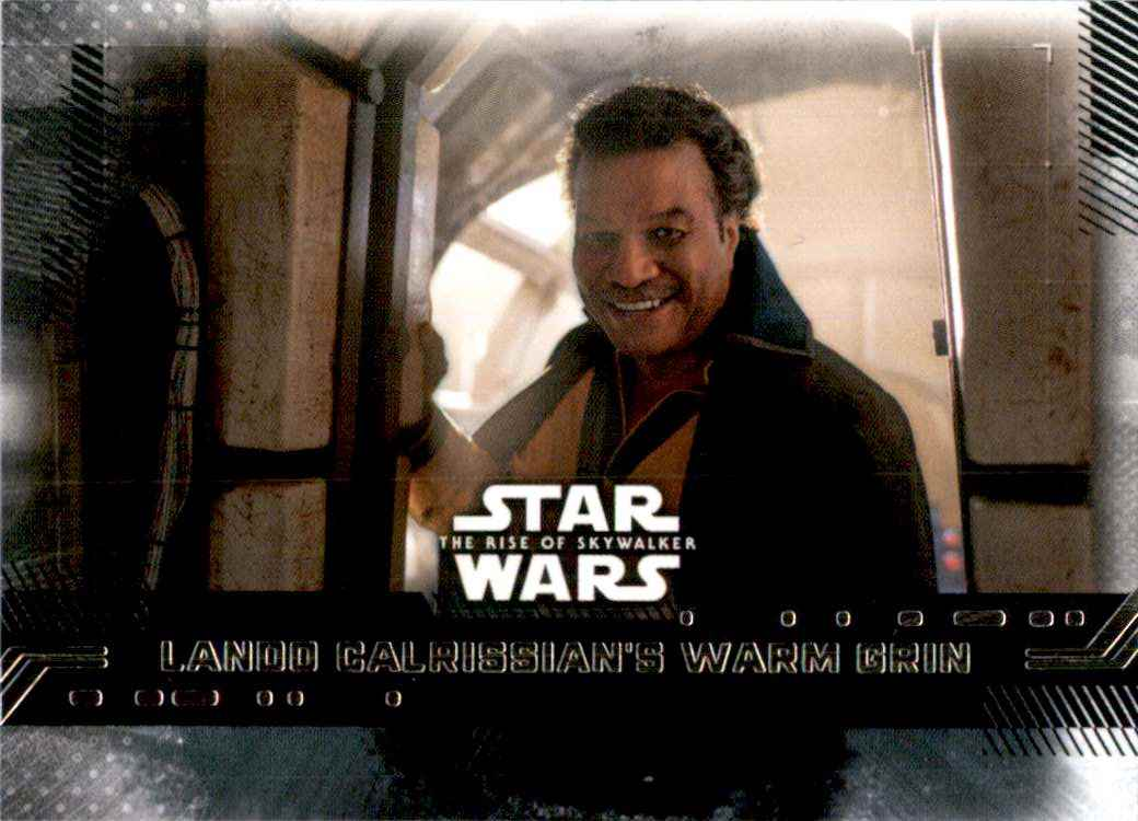2019 Star Wars The Rise Of Skywalker Series One Lando Calrissian's Warm Grin #84 card front image