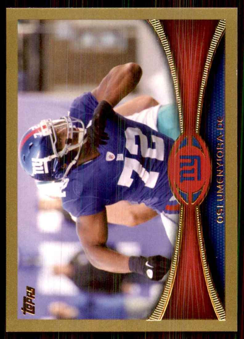 2012 Topps Gold Osi Umenyiora #219 card front image