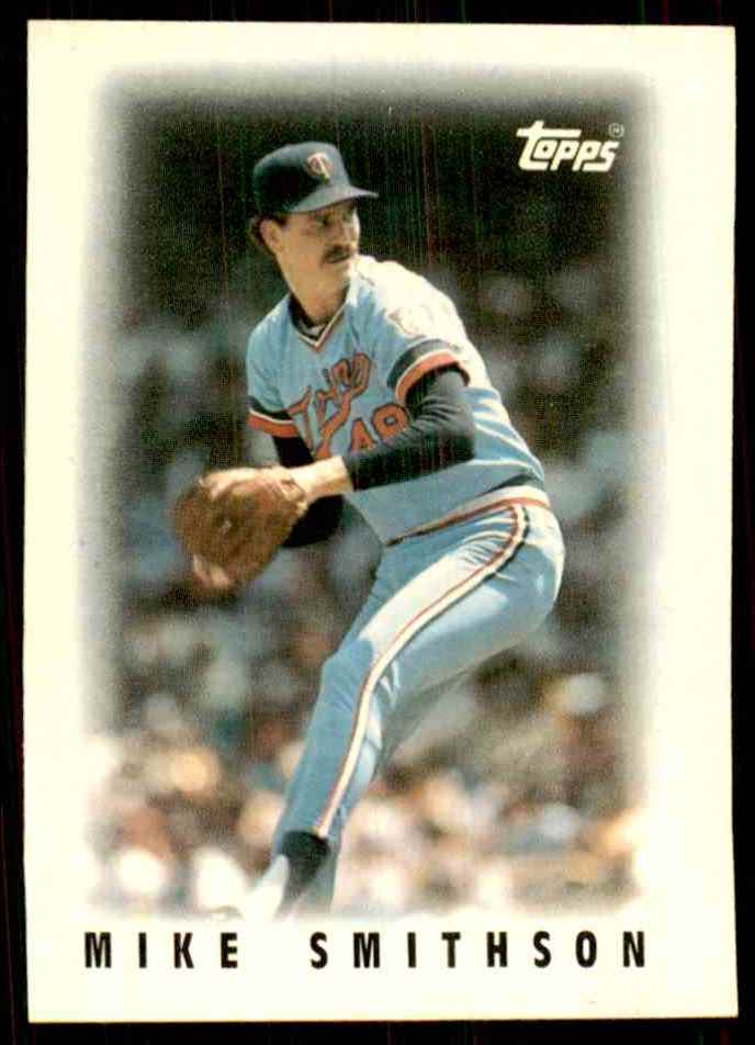1986 Topps Mini Leaders Mike Smithson #24 card front image