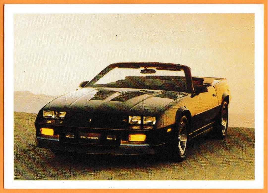 1991 Vintage Sports Cars Vintage Sports Cars 1989 Camaro Irocz #5 card front image