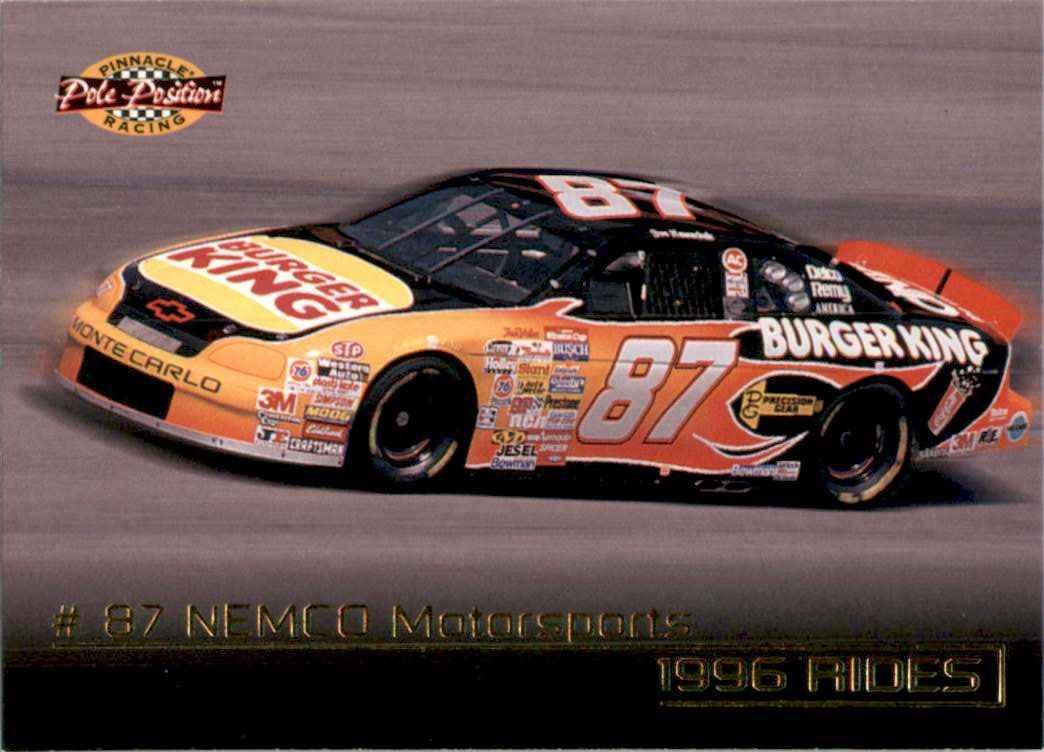 1996 Pinnacle Pole Position Joe Nemechek's Car #50 card front image
