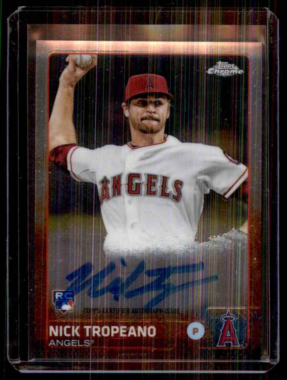 2015 Topps Chrome Rookie Autographs Nick Tropeano #ARNT card front image