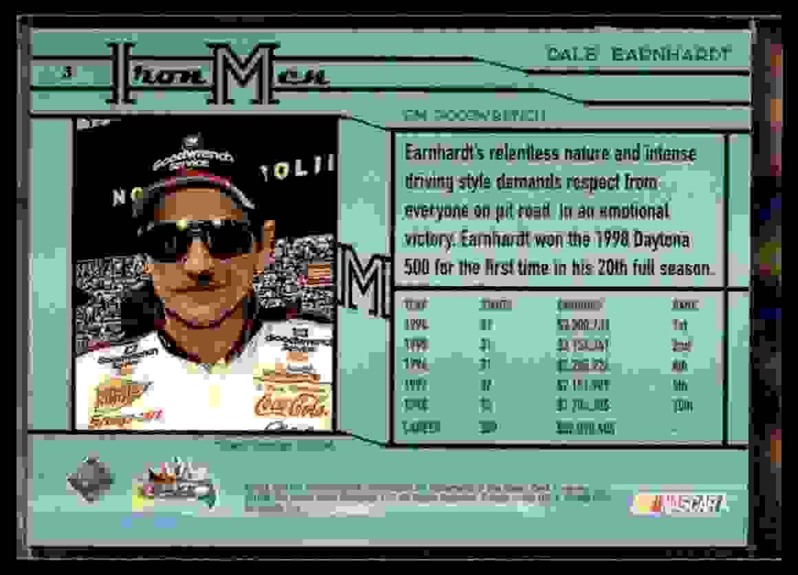 1998 Upper Deck Maxximum Dale Earnhardt #3 card back image