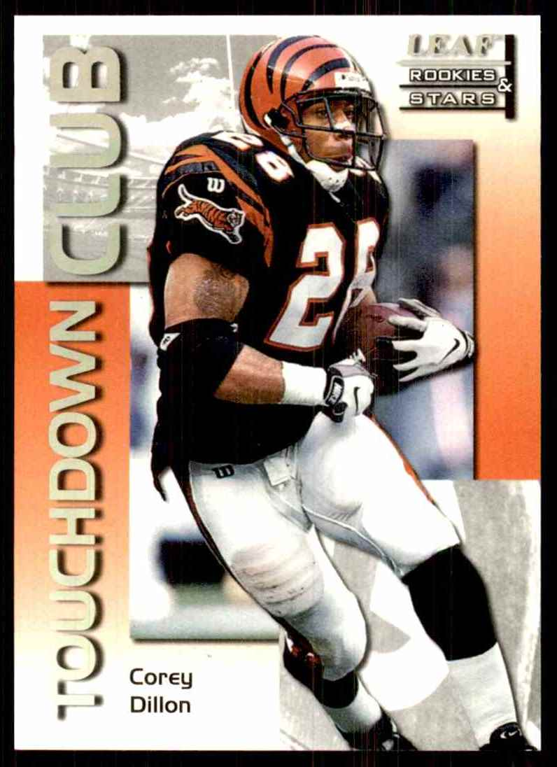 1998 Leaf Rookies & Stars Touchdown Club Corey Dillon #14 card front image