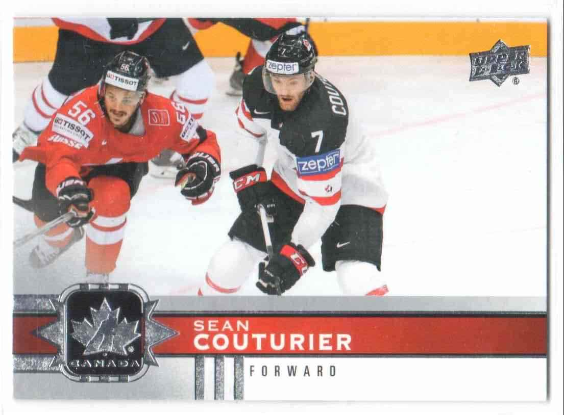 2017-18 Upper Deck Team Canada Canadian Tire Sean Couturier #9 card front image