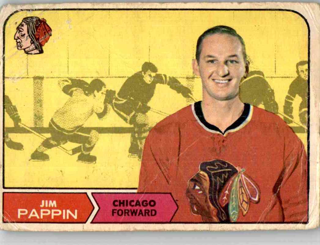 1968-69 O-Pee-Chee Jim Pappin #21 card front image