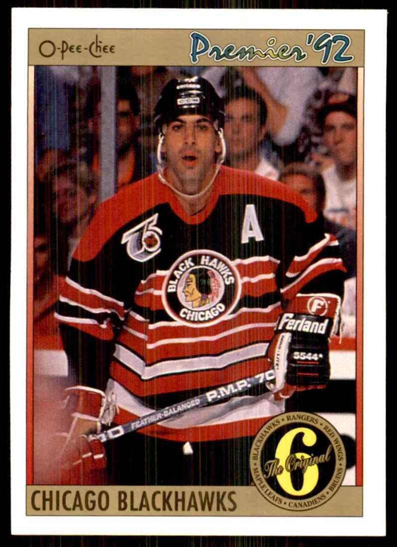 1991-92 OPC Premier Chris Chelios Orig6 #150 card front image