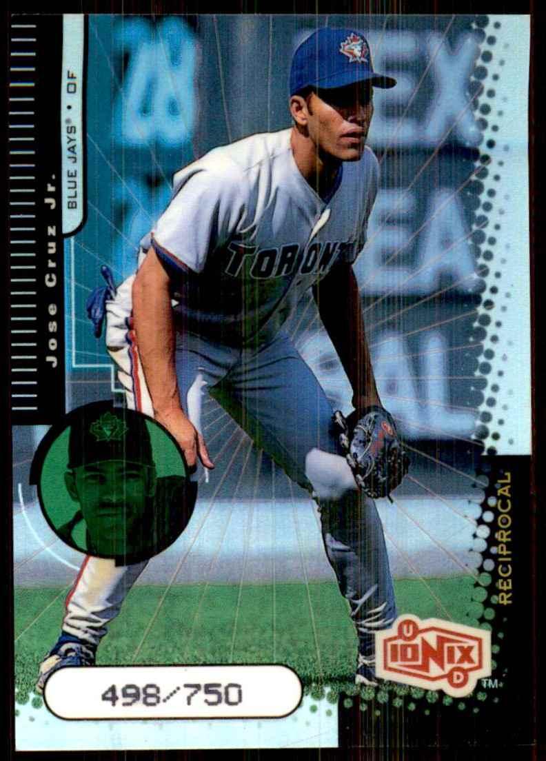 1999 Upper Deck Ionix Reciprocal Jose Cruz JR. #60 card front image