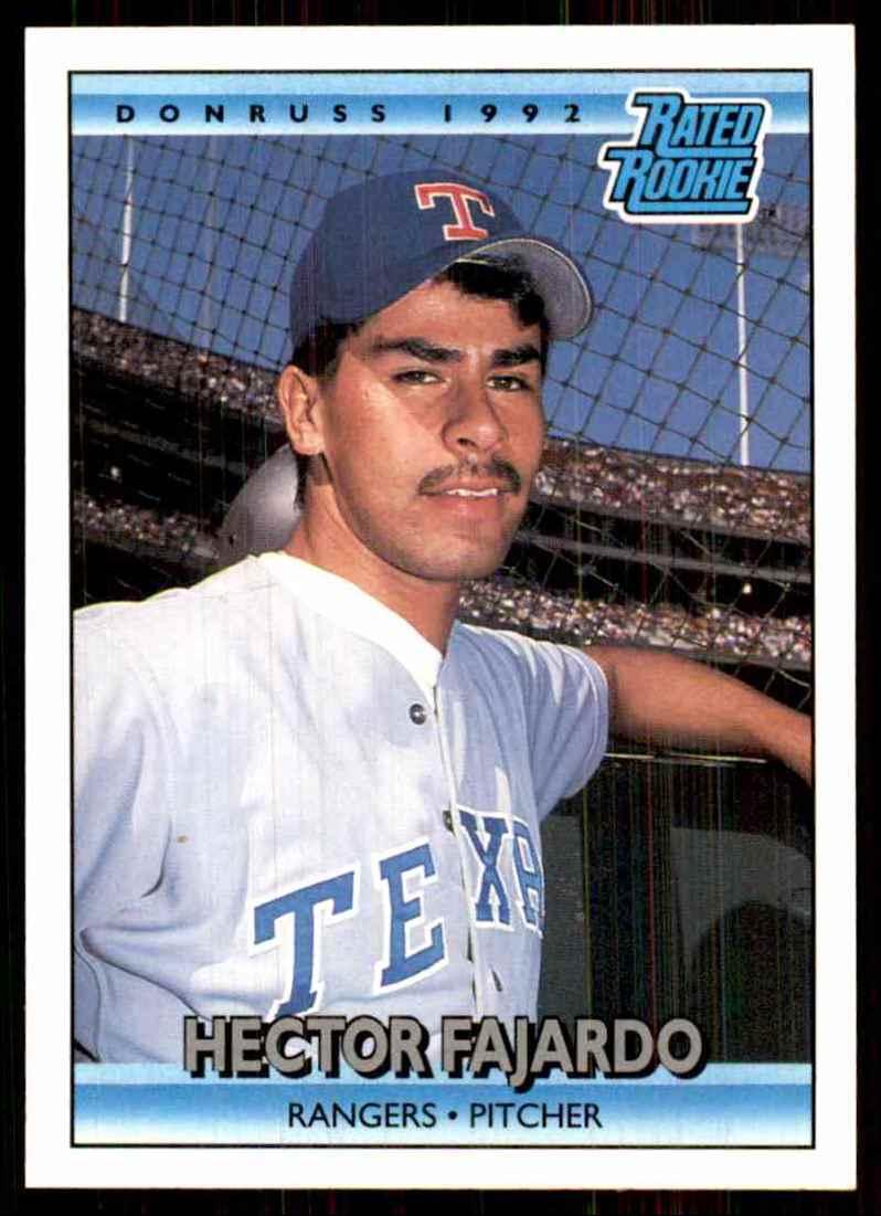 1992 Donruss Hector Fajardo Rr RC #419 card front image
